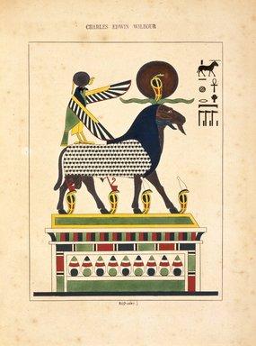 """<em>""""Amon-Ra (l'esprit des quatre elements, lame du monde matérial)""""</em>, 1823-25. Printed material. Brooklyn Museum. (N372.2_C35_Champollion_pl02quarter_SL1.jpg"""