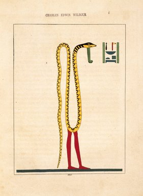 "<em>""Nef, Noub, Noum (Cnèph, Cnouphis, Cnoubis, Chnoumis, Agathodaemon)""</em>, 1823-25. Printed material. Brooklyn Museum. (N372.2_C35_Champollion_pl03bis_SL1.jpg"