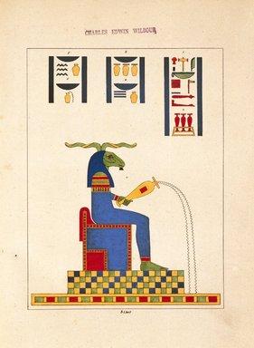"<em>""Cnouphis-Nilus (Jupiter-Nilus, Dieu Nil)""</em>, 1823-25. Printed material. Brooklyn Museum. (N372.2_C35_Champollion_pl03ter_SL1.jpg"