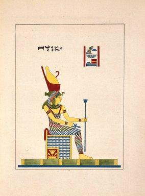 "<em>""Neith (l'Athène, ou la Minerve égyptienne)""</em>, 1823-25. Printed material. Brooklyn Museum. (N372.2_C35_Champollion_pl06_SL1.jpg"