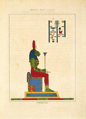 "<em>""Neith Motrice et Conservatrice (Athénè,  Minerve)""</em>, 1823-25. Printed material. Brooklyn Museum. (N372.2_C35_Champollion_pl06quinquiesa_SL1.jpg"
