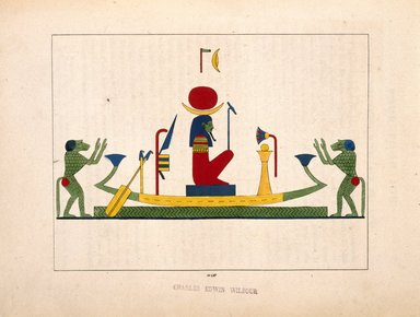 "<em>""Pooh, Phoh, Loh (Lunus, le dieu-Lune, Sélène""</em>, 1823-25. Printed material. Brooklyn Museum. (N372.2_C35_Champollion_pl14B_SL1.jpg"
