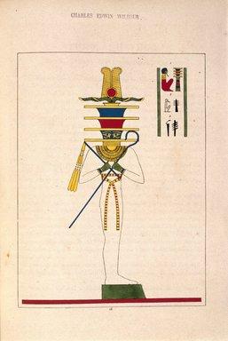 "<em>""Phtah-Stabiliteur""</em>, 1823-25. Printed material. Brooklyn Museum. (N372.2_C35_Champollion_pl16_SL1.jpg"