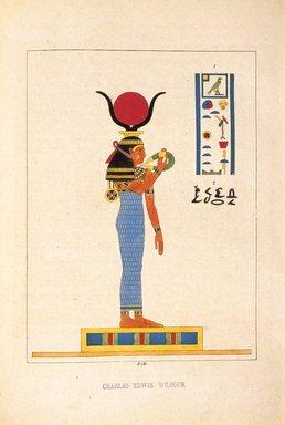 "<em>""Hathôr ou Ahtôr (Atar, Athyr, Aphrodite, Vénus)""</em>, 1823-25. Printed material. Brooklyn Museum. (N372.2_C35_Champollion_pl17B_SL1.jpg"