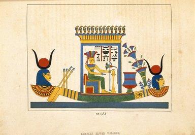 "<em>""Anouké ou Anouki (Anucè, Anucis, Istia, Estia, Vesta)""</em>, 1823-25. Printed material. Brooklyn Museum. (N372.2_C35_Champollion_pl20A_SL1.jpg"