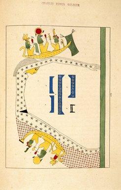 """<em>""""Tpé, Tphé, ou Tiphé (uranie, la Déesse Ciel)""""</em>, 1823-25. Printed material. Brooklyn Museum. (N372.2_C35_Champollion_pl20B_SL1.jpg"""