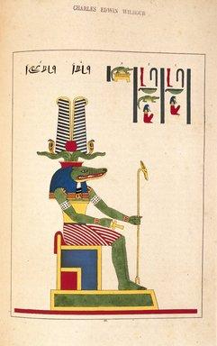 "<em>""Sovk (Suchus, Cronos, Satrune)""</em>, 1823-25. Printed material. Brooklyn Museum. (N372.2_C35_Champollion_pl22_SL1.jpg"