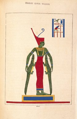 "<em>""Bouto, Nourrice des Dieux""</em>, 1823-25. Printed material. Brooklyn Museum. (N372.2_C35_Champollion_pl23A_SL1.jpg"