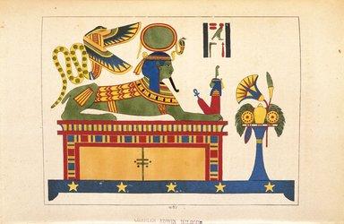 "<em>""Le Sphinx du Dieu Phre ou du Soleil""</em>, 1823-25. Printed material. Brooklyn Museum. (N372.2_C35_Champollion_pl24E_SL1.jpg"
