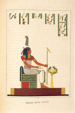 "<em>""Djom, Djem ou Gom (l'Hercule Éguptien)""</em>, 1823-25. Printed material. Brooklyn Museum. (N372.2_C35_Champollion_pl25_SL1.jpg"