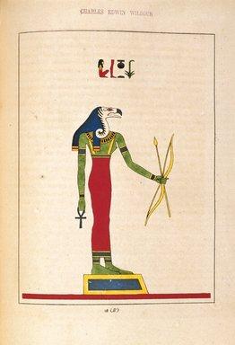 "<em>""Seven, Saoven ou Sovan (Ilthya, Junon-Lucine)""</em>, 1823-25. Printed material. Brooklyn Museum. (N372.2_C35_Champollion_pl28B_SL1.jpg"