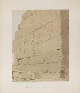 "<em>""Ramesseum: Bas Relief""</em>. Printed material. Brooklyn Museum. (Photo: Brooklyn Museum, N376_B14_Beato_vol1_pl04_PS4.jpg"