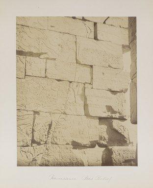 "<em>""Ramesseum: Bas Relief""</em>. Printed material. Brooklyn Museum. (Photo: Brooklyn Museum, N376_B14_Beato_vol1_pl05_PS4.jpg"