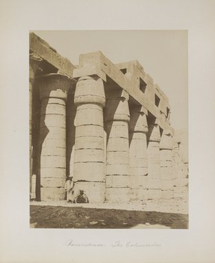 "<em>""Ramesseum: The Colonnades""</em>. Printed material. Brooklyn Museum. (Photo: Brooklyn Museum, N376_B14_Beato_vol1_pl06_PS4.jpg"