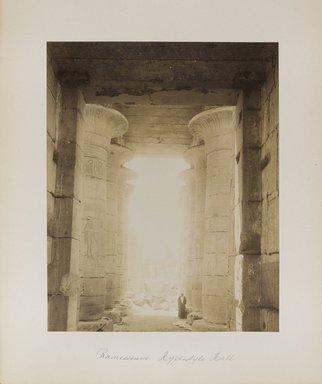 "<em>""Ramesseum: Hyplostyle Hall""</em>. Printed material. Brooklyn Museum. (Photo: Brooklyn Museum, N376_B14_Beato_vol1_pl07_PS4.jpg"