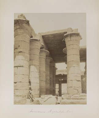 "<em>""Ramesseum: Hyplostyle Hall""</em>. Printed material. Brooklyn Museum. (Photo: Brooklyn Museum, N376_B14_Beato_vol1_pl08_PS4.jpg"