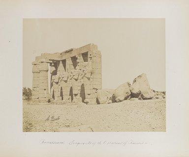 "<em>""Ramesseum: Fragments of the Colossus of Ramses II""</em>. Printed material. Brooklyn Museum. (Photo: Brooklyn Museum, N376_B14_Beato_vol1_pl09_PS4.jpg"