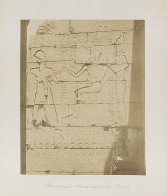 "<em>""Ramesseum: Ramses and his Family""</em>. Printed material. Brooklyn Museum. (Photo: Brooklyn Museum, N376_B14_Beato_vol1_pl12_PS4.jpg"