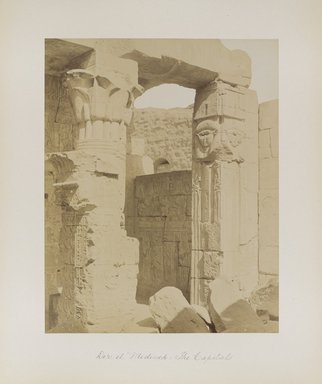 "<em>""Der el Medineh: The Capitals""</em>. Printed material. Brooklyn Museum. (Photo: Brooklyn Museum, N376_B14_Beato_vol1_pl16_PS4.jpg"