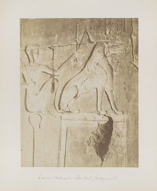"<em>""Der el Medineh: The last Judgment""</em>. Printed material. Brooklyn Museum. (Photo: Brooklyn Museum, N376_B14_Beato_vol1_pl17_PS4.jpg"