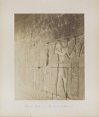 "<em>""Der el Medineh: The last Judgment""</em>. Printed material. Brooklyn Museum. (Photo: Brooklyn Museum, N376_B14_Beato_vol1_pl18_PS4.jpg"