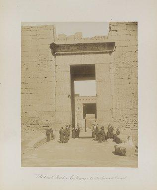 "<em>""Medinet Habu: Entrance to the Second Court""</em>. Printed material. Brooklyn Museum. (Photo: Brooklyn Museum, N376_B14_Beato_vol1_pl22_PS4.jpg"