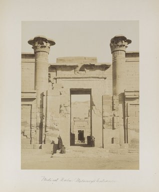 "<em>""Medinet Habu: Ptolomey's Entrance""</em>. Printed material. Brooklyn Museum. (Photo: Brooklyn Museum, N376_B14_Beato_vol1_pl24_PS4.jpg"