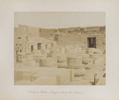 "<em>""Medinet Habu: Fragments of the Interior""</em>. Printed material. Brooklyn Museum. (Photo: Brooklyn Museum, N376_B14_Beato_vol1_pl25_PS4.jpg"