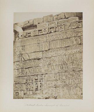 "<em>""Medinet Habu: Triumph of Ramses""</em>. Printed material. Brooklyn Museum. (Photo: Brooklyn Museum, N376_B14_Beato_vol1_pl28_PS4.jpg"