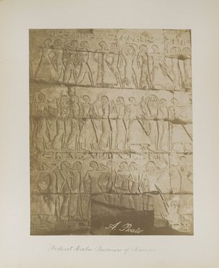 "<em>""Medinet Habu: Prisoners of Ramses""</em>. Printed material. Brooklyn Museum. (Photo: Brooklyn Museum, N376_B14_Beato_vol1_pl29_PS4.jpg"