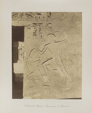 "<em>""Medinet Habu: Prisoners of Ramses""</em>. Printed material. Brooklyn Museum. (Photo: Brooklyn Museum, N376_B14_Beato_vol1_pl30_PS4.jpg"