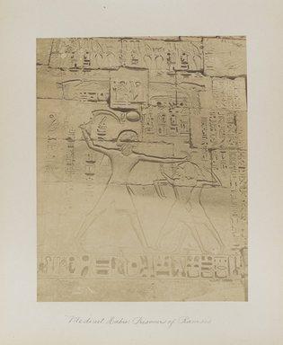 "<em>""Medinet Habu: Prisoners of Ramses""</em>. Printed material. Brooklyn Museum. (Photo: Brooklyn Museum, N376_B14_Beato_vol1_pl31_PS4.jpg"