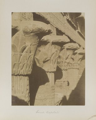 "<em>""Esneh: Capitals""</em>. Printed material. Brooklyn Museum. (Photo: Brooklyn Museum, N376_B14_Beato_vol1_pl32_PS4.jpg"