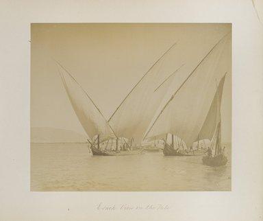 "<em>""Esneh: View on the Nile""</em>. Printed material. Brooklyn Museum. (Photo: Brooklyn Museum, N376_B14_Beato_vol1_pl33_PS4.jpg"