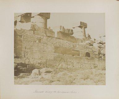 "<em>""Karnak: Wall of the Conqueror Setos I""</em>. Printed material. Brooklyn Museum. (Photo: Brooklyn Museum, N376_B14_Beato_vol2_pl07_PS4.jpg"
