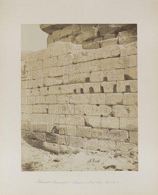 "<em>""Karnak: Triumphal Monument of Sher Kouk I [Sheshonk I]""</em>. Printed material. Brooklyn Museum. (Photo: Brooklyn Museum, N376_B14_Beato_vol2_pl13_PS4.jpg"