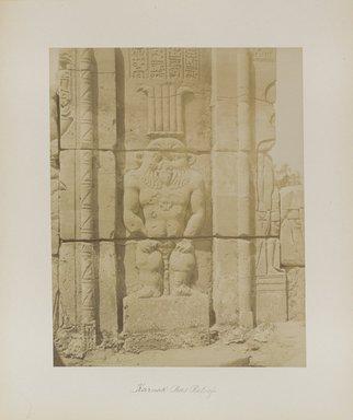 "<em>""Karnak: Bas Relief""</em>. Printed material. Brooklyn Museum. (Photo: Brooklyn Museum, N376_B14_Beato_vol2_pl15_PS4.jpg"