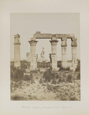 "<em>""Karnak: Temple of Medamut near Karnak""</em>. Printed material. Brooklyn Museum. (Photo: Brooklyn Museum, N376_B14_Beato_vol2_pl17_PS4.jpg"