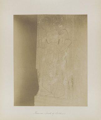 "<em>""Karnak: Tomb of Sethos I""</em>. Printed material. Brooklyn Museum. (Photo: Brooklyn Museum, N376_B14_Beato_vol2_pl21_PS4.jpg"