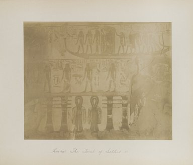 "<em>""Karnak: Tomb of Sethos I""</em>. Printed material. Brooklyn Museum. (Photo: Brooklyn Museum, N376_B14_Beato_vol2_pl23_PS4.jpg"