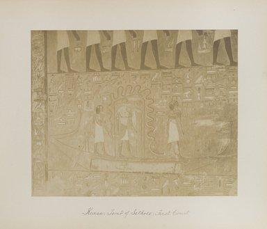 "<em>""Karnak: Tomb of Sethos I, First Court""</em>. Printed material. Brooklyn Museum. (Photo: Brooklyn Museum, N376_B14_Beato_vol2_pl24_PS4.jpg"