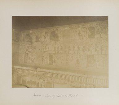 "<em>""Karnak: Tomb of Sethos I, Third Court""</em>. Printed material. Brooklyn Museum. (Photo: Brooklyn Museum, N376_B14_Beato_vol2_pl26_PS4.jpg"