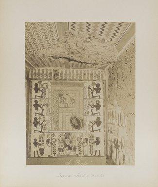 "<em>""Karnak: Tomb of Nekht""</em>. Printed material. Brooklyn Museum. (Photo: Brooklyn Museum, N376_B14_Beato_vol2_pl27_PS4.jpg"