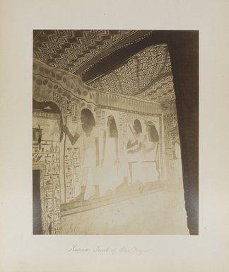 """<em>""""Karnak: Tomb of Sen Nafer""""</em>. Printed material. Brooklyn Museum. (Photo: Brooklyn Museum, N376_B14_Beato_vol2_pl29_PS4.jpg"""
