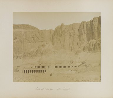 "<em>""Der el Bahri: The Temple""</em>. Printed material. Brooklyn Museum. (Photo: Brooklyn Museum, N376_B14_Beato_vol2_pl30_PS4.jpg"