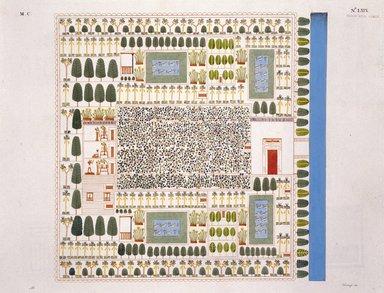 """<em>""""Immagine di une giardino.""""</em>. Color transparency, 4x5in. Brooklyn Museum. (Photo: Brooklyn Museum, N378_R72_SCR_Rosellini_Monumenti_v2_plLXIX_SL1.jpg"""