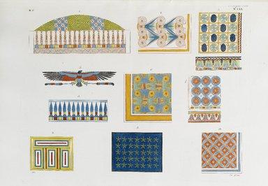 """<em>""""Saggi delle pitture e ornamenti, che decorano le volte, o i soffitti delle tombe e delle case egiziane.""""</em>. Born digital. Brooklyn Museum. (Photo: Brooklyn Museum, N378_R72_SCR_Rosellini_Monumenti_v2_plLXX_PS2.jpg"""