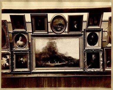 "<em>""Brooklyn Art Association, first chronological exhibition of American art [March 1872]. Installation view 02.""</em>, 1872. Bw photograph (original print), 9 x 7in (23 x 18cm). Brooklyn Museum, BAA1872. (N858_Un3_B78_1872b_003.jpg"