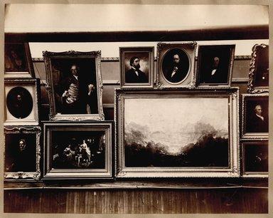 "<em>""Brooklyn Art Association, first chronological exhibition of American art [March 1872]. Installation view 03.""</em>, 1872. Bw photograph (original print), 9 x 7in (23 x 18cm). Brooklyn Museum, BAA1872. (N858_Un3_B78_1872b_004.jpg"