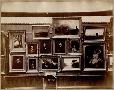 "<em>""Brooklyn Art Association, first chronological exhibition of American art [March 1872]. Installation view 05.""</em>, 1872. Bw photograph (original print), 9 x 7in (23 x 18cm). Brooklyn Museum, BAA1872. (N858_Un3_B78_1872b_006.jpg"